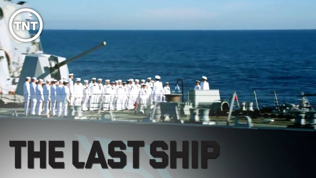 The Last Ship Crew on deck