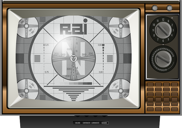 TV test pattern on Page & Screen