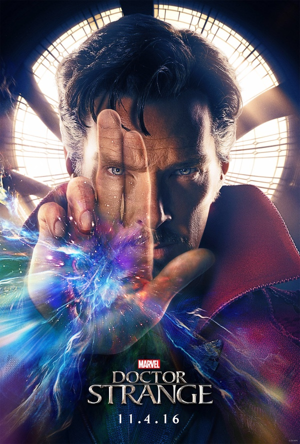 Doctor Strange movie poster hero image on Page & Screen